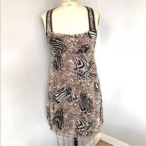BCBG Max Azria Animal Print Dress